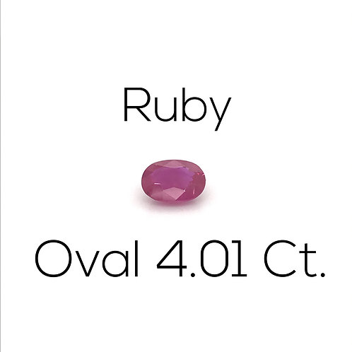Ruby Oval 4.01 Ct.