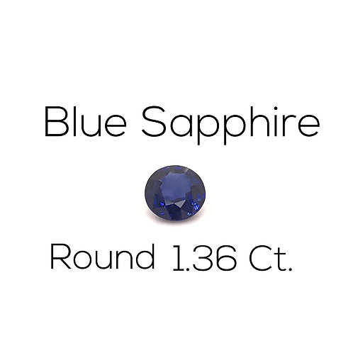 Round Ceylon Blue Sapphire Downtown Los Angeles Diamond District