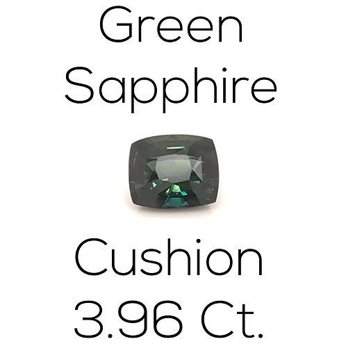 Cushion Ceylon Green Sapphire Downtown Los Angeles Diamond District