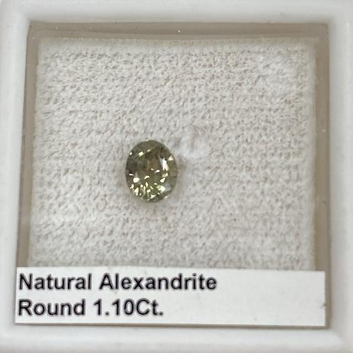 Alexandrite Round 1.10 Ct