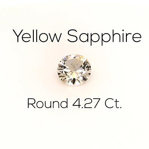 Round Ceylon Yellow Sapphire Downtown Los Angeles Diamond District