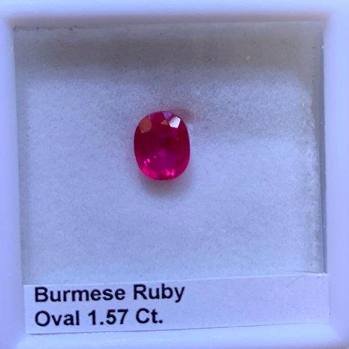 Burma Ruby Oval 1.57 Ct