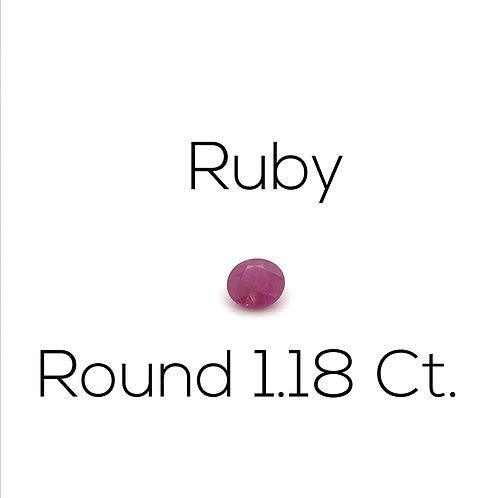 Ruby Round 1.18 Ct.