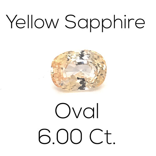 Yellow Sapphire Oval 6.00 Ct.