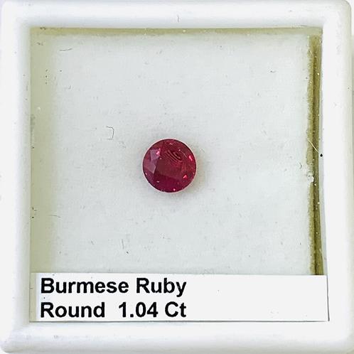 Burma Ruby - Round 1.04 ct