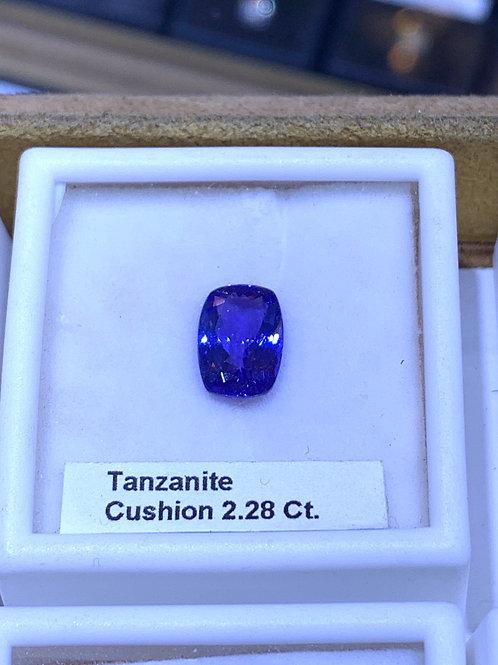 Cushion 2.28 tanzanite