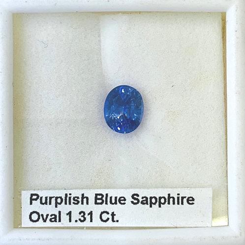 Purplish Blue Sapphire - 1.31 Ct