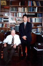 Steve Young with Richard Liddicoat, Chairman of the Gemological Institute of America (GIA) from 1983-2002.