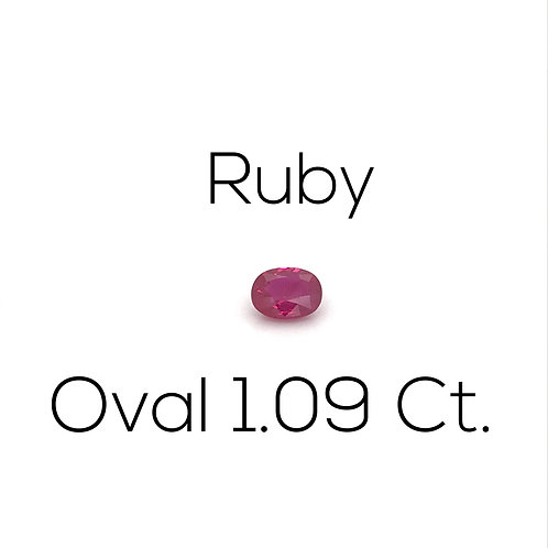 Ruby Oval 1.09 Ct.
