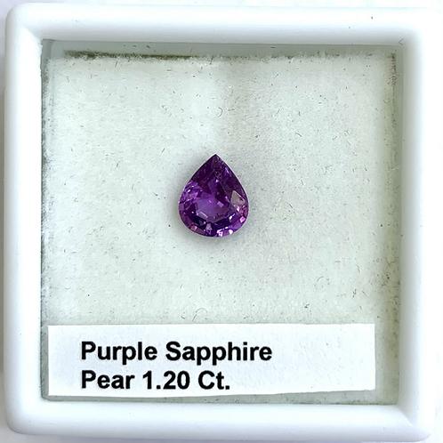 Purple Sapphire Pear 1.20 Ct