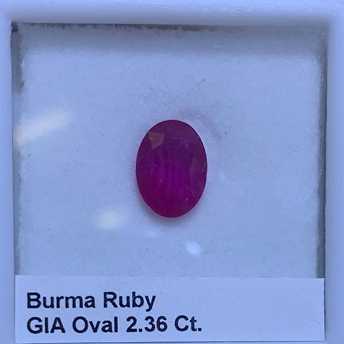 Ruby Oval 2.36 Ct.