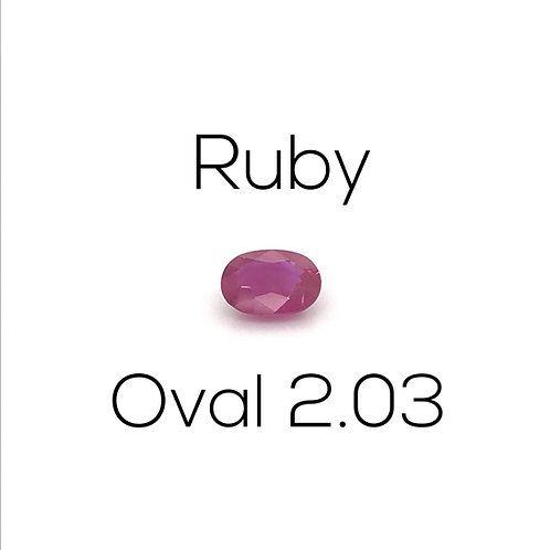 Ruby Oval 2.03 Ct.
