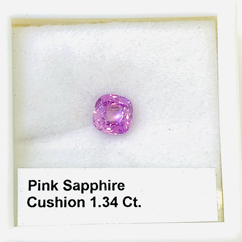 Pink Sapphire - Cushion - 1.34 Ct
