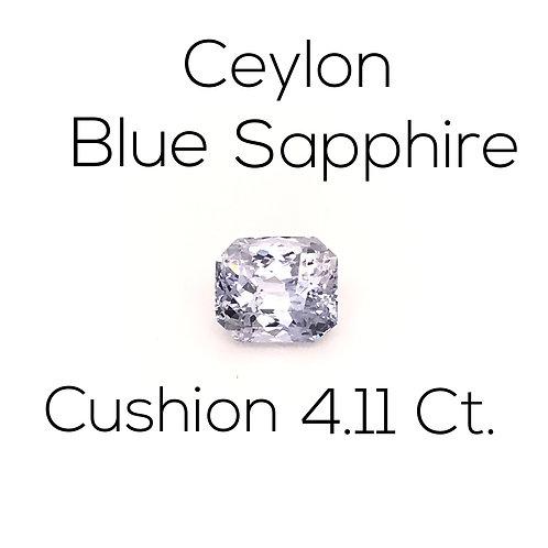 Ceylon Blue Sapphire Cushion 4.11 Ct.