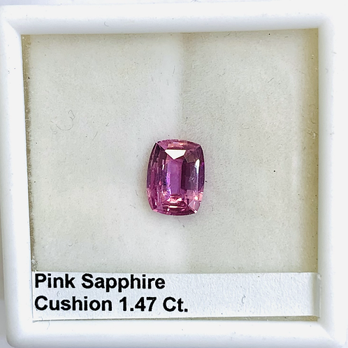 Pink Sapphire Cushion 1.47 Ct.
