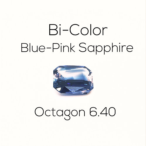 Octagon Ceylon Bi-Color Blue Pink Sapphire Downtown Los Angeles Diamond District