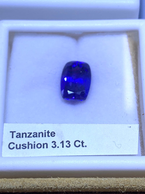 Cushion 3.13 tanzanite