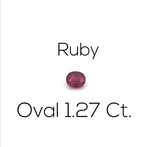 Ruby Oval 1.27 Ct.