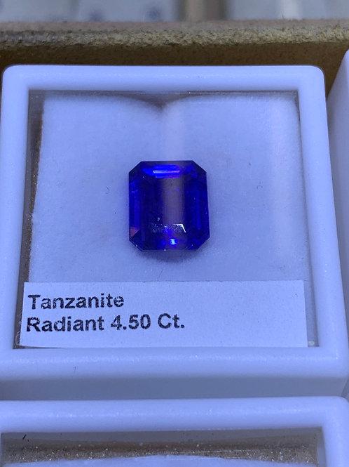 Tanzanite 4.5ct radiant