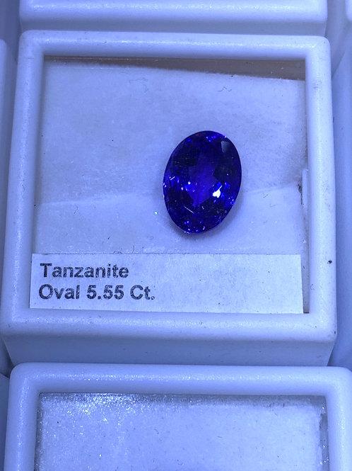 Oval 5.55 tanzanite