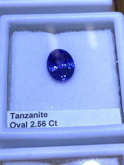 Oval 2.56 tanzanite