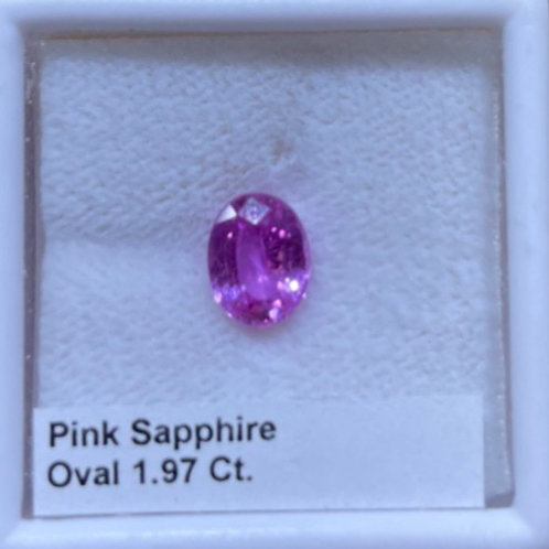 Pink Sapphire 1.97 Ct. Oval