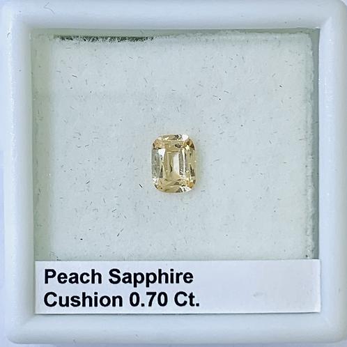 Peach Sapphire Cushion 0.70 Ct