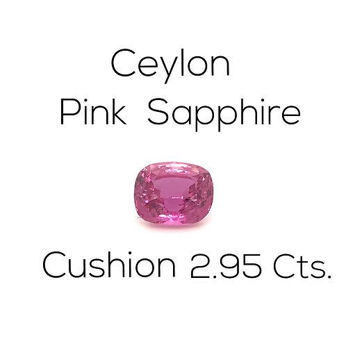 Pink Sapphire Cushion 2.95 Ct.