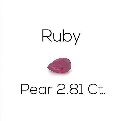 Ruby Pear 2.81 Ct.