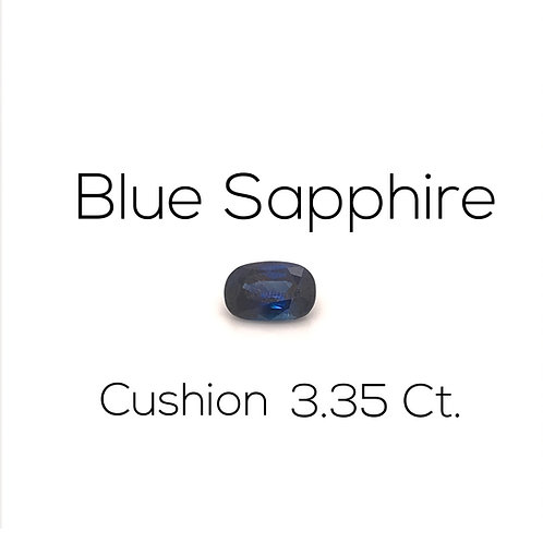 Cushion Ceylon Blue Sapphire Downtown Los Angeles Diamond District