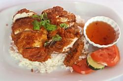 Crispy Chicken over Rice