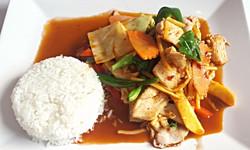 Stir-fried Vegetables with Basil