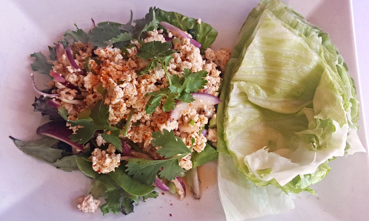 Spicy Chicken Salad w/ lettuce Wrap