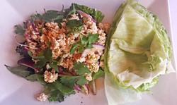 Spicy Chicken Salad w/ lettuce Wrap