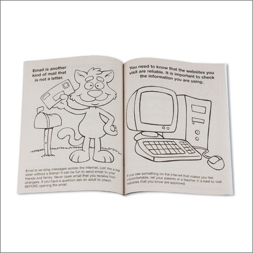 Internet Safety Coloring Books | Child ID Kits | Child Fingerprint ...