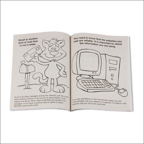 Internet Safety Coloring Books