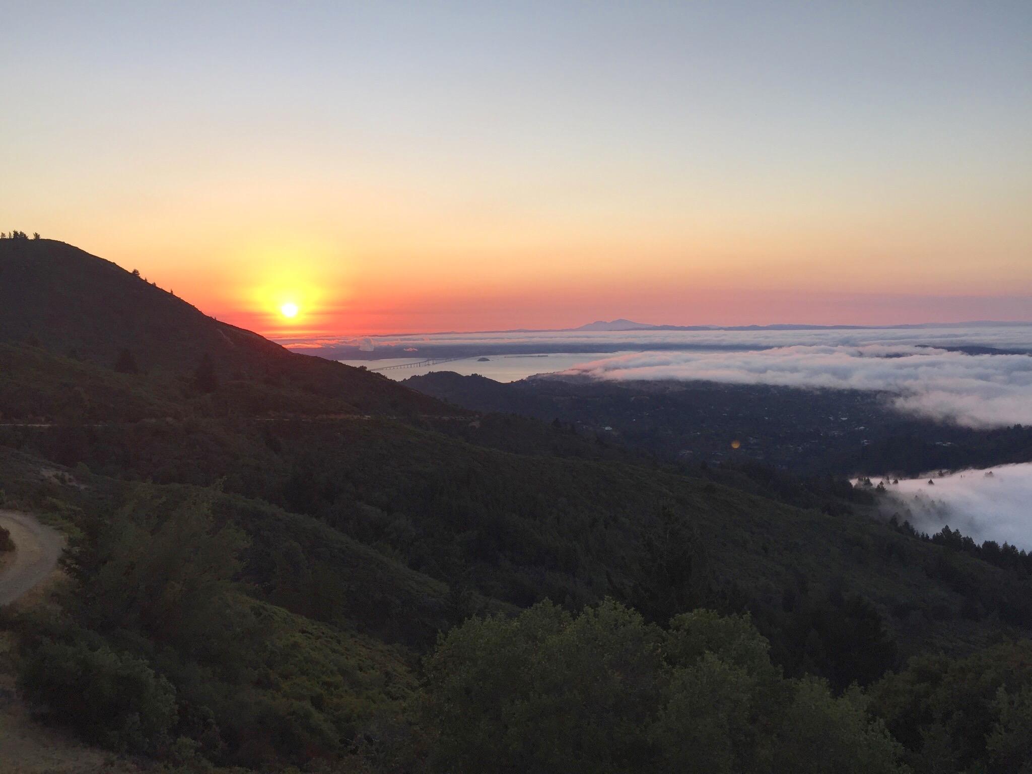 Sun rise view