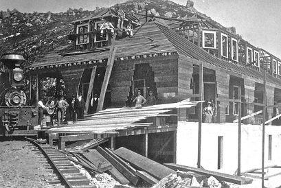 During constuction of Tavern of Tamalpias, 1896