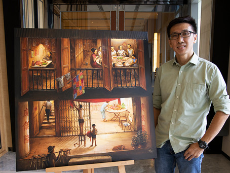 Singapore street artist stages heritage exhibition