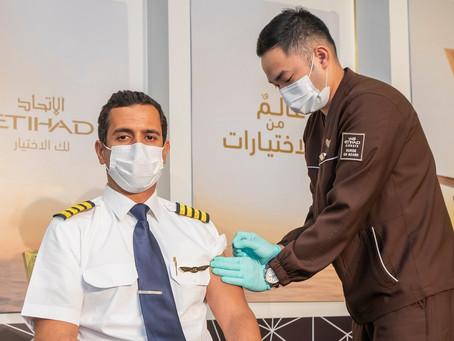 Etihad Airways vaccinates all on-board crews