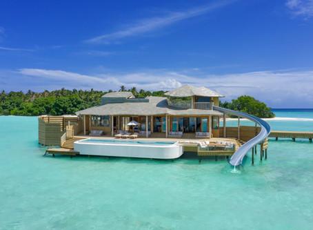 Maldives splash-down at world's largest overwater villas