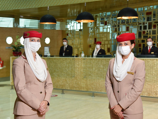 Champagne flows as Emirates reopens first class lounge