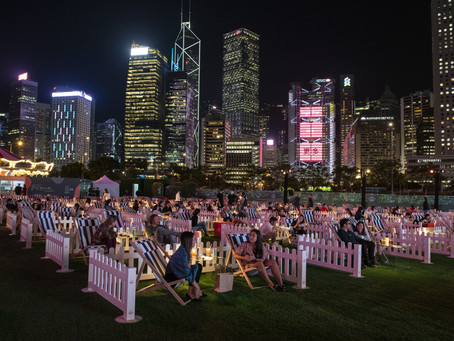 Pop-up entertainment lights-up Central Harbourfront