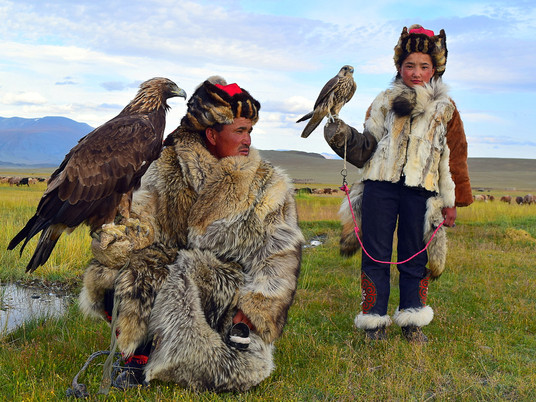 Flying high in Mongolia