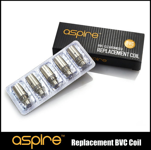 5x Aspire BVC coil heads