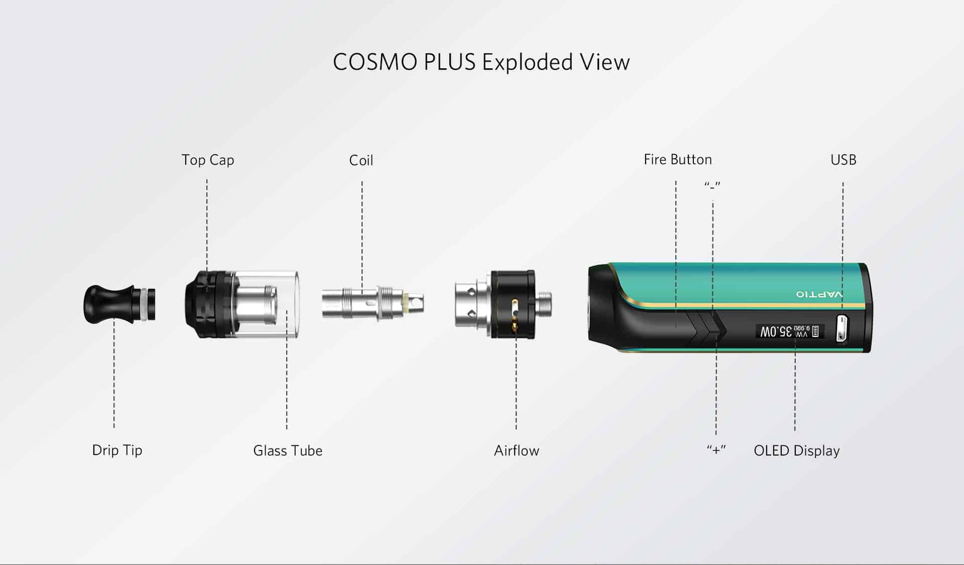 vaptio Cosmo Plus exploded view