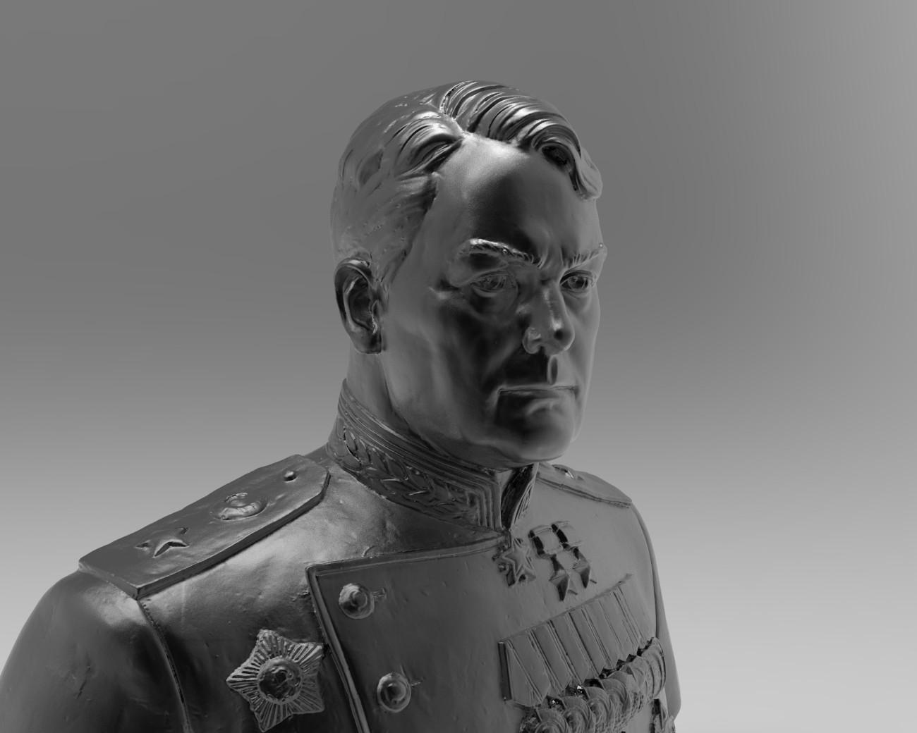 Маршал Василевский и не только. 3d сканирование скульптуры