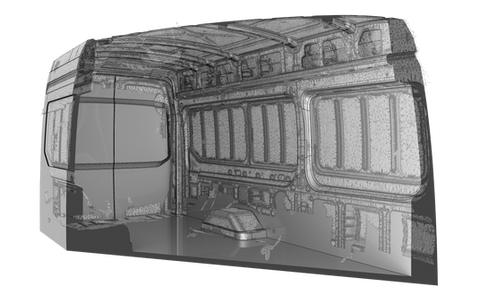 Интерьер фургона Ford Transit