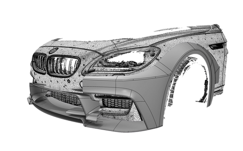 Проектирование custom-бампера BMW
