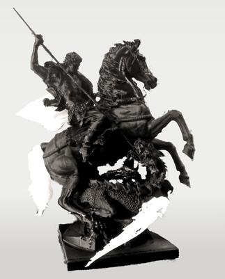 Скульптура Святой Георгий убивает дракона